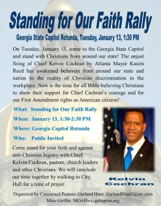 Standing for our Faith Rally