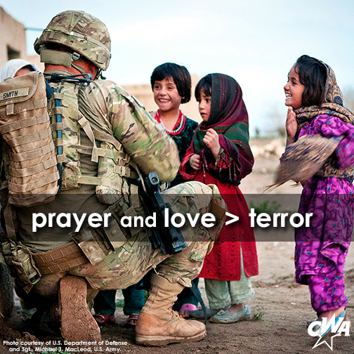 prayer and love is greater than terror