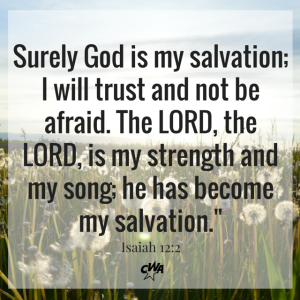 Surely God is my salvation; I will trust (3)