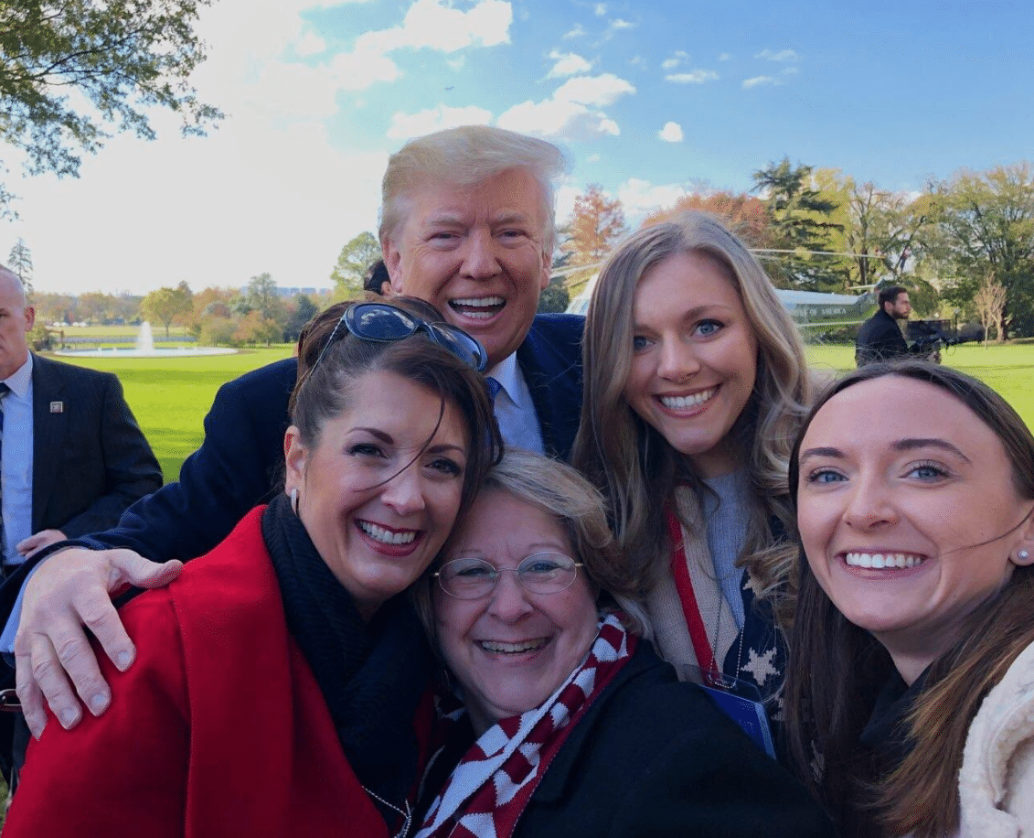 Concerned Women for America staff with President Donald J. Trump