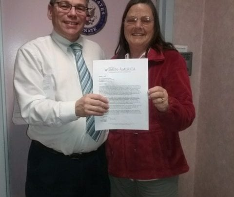State Director Delivers Letter to Senator Susan Collins