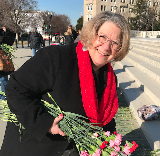 CWA's Vice President of Field Operations Tanya Ditty at the Preborn Prayer Vigil at the Supreme Court