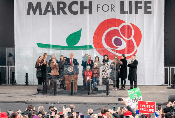CWA CEO and President at 2020 March for Life with President Donald Trump